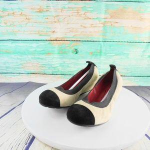 Pas Del Rouge Petra Suede Leather Ballet Flats